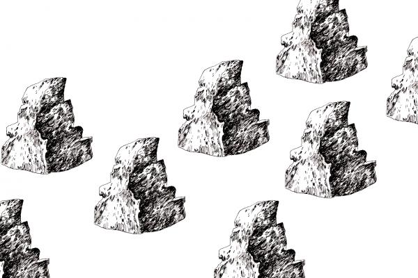 Valmennuslinjan kuvana kallio.